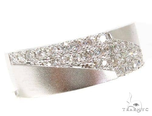 Prong Diamond Wedding Band 40687 Style