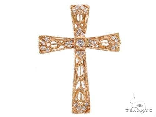 Prong Diamond Cross Crucifix Pendants 40232 Style