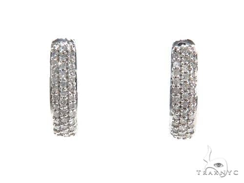 Prong Diamond Hoop Earrings 40893 Style