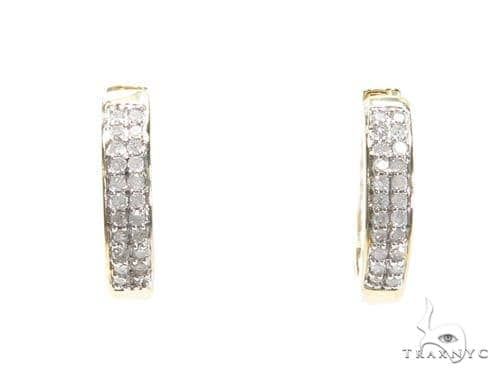 Prong Diamond Hoop Earrings 40892 Style