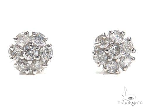 Prong Diamond Earrings 40889 Stone