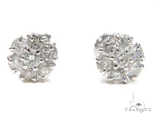 Prong Diamond Earrings 40887 Stone