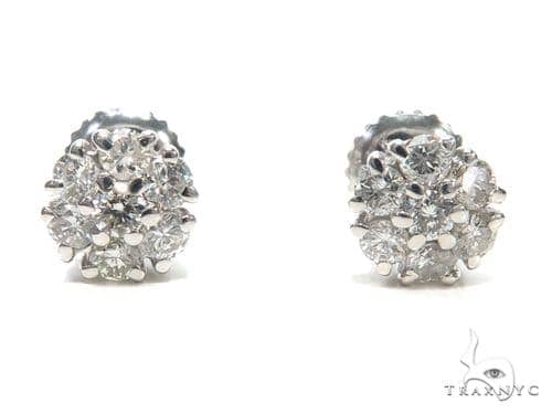 Prong Diamond Earrings 40886 Stone