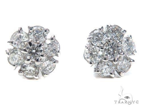 Anemone Diamond Earrings 40885 Stone