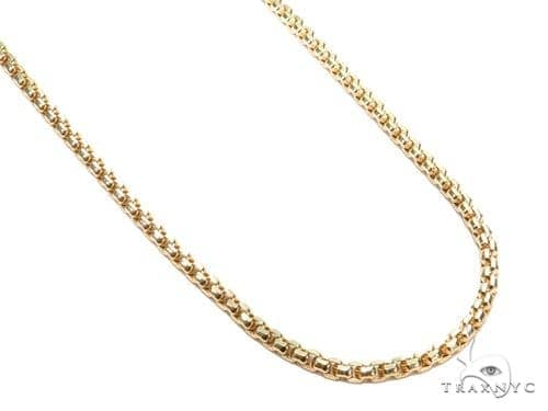 Round Box Gold Chain 24 Inches 3mm 16 Grams 40910 Gold