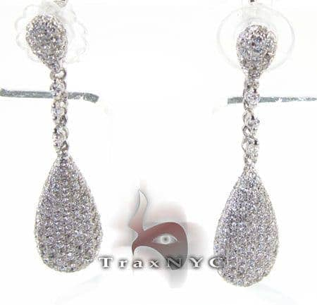 Pear Earrings 3 Stone
