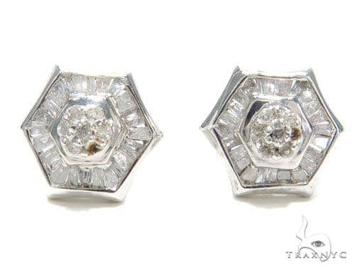 Prong Diamond Earrings 40953 Stone
