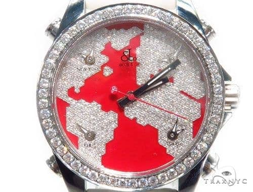 Jacob & Co. JCM47SR Five Time Zone Continent Watch 40994 JACOB & Co