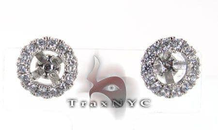 Hex Earrings 2 Stone