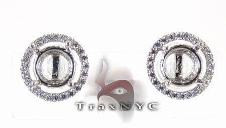 Semi Mount Loop Earrings 2 Stone