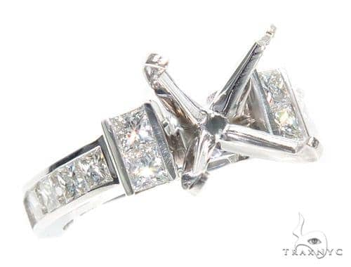 Invisible Diamond Semi Mount Ring 41061 Engagement
