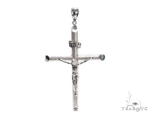 Silver Cross Crucifix 41105 Silver