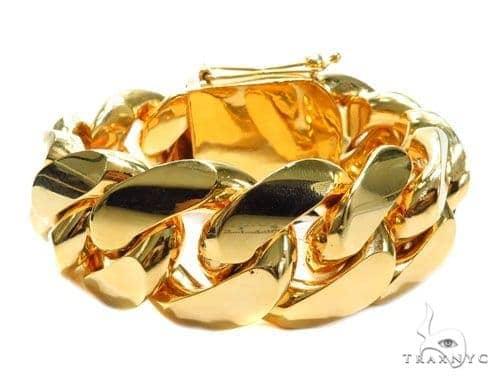 Miami Cuban Gold Bracelet 41127 Gold