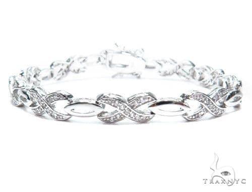 Sterling Silver Bracelet 41208 Silver & Stainless Steel