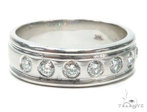 Bezel Diamond Wedding Band 41213 Style