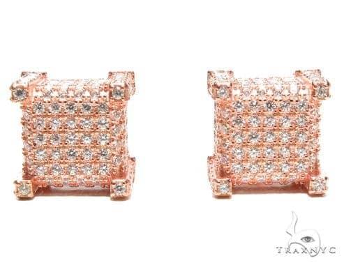 CZ  Silver Earrings 41285 Metal