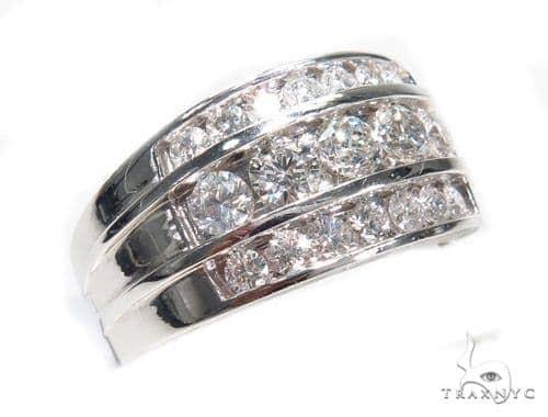 3 Row Channel Diamond Ring 41552 Stone