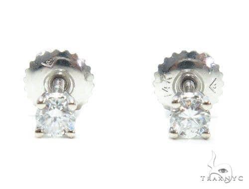 Prong Diamond Stud Earrings 41589 Style