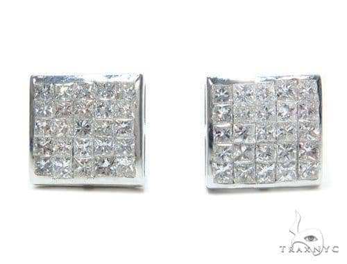 Invisible Diamond Earrings 41632 Stone