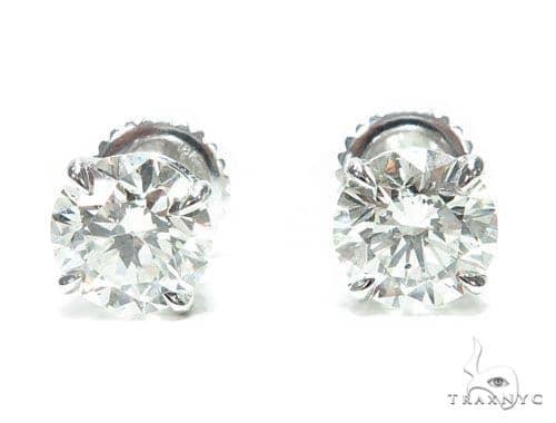Prong Diamond Stud Earrings 41653 Style