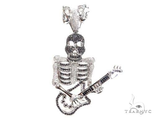 Prong Diamond Skull Pendant 41689 Style