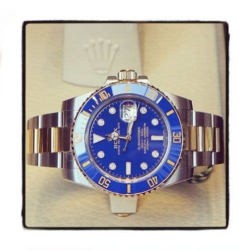 Rolex Submariner Gold and Steel 116613 blu