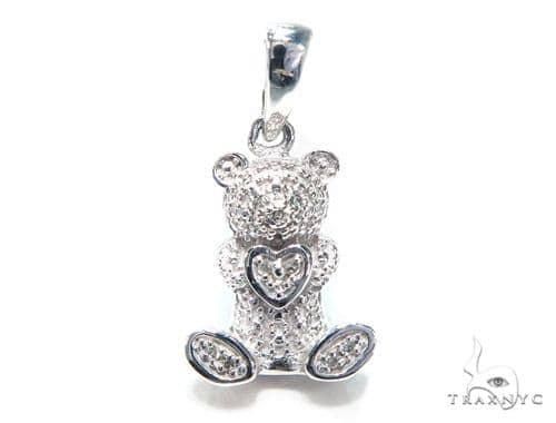 Bear Diamond Pendant 41796 Stone