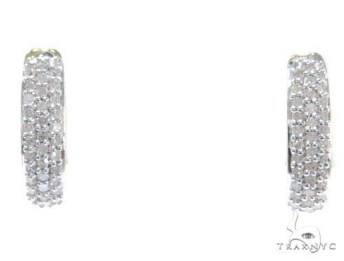 Prong Diamond Hoop Earrings 41864 Style