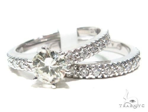 Prong Diamond Engagement Ring Set 41855 Engagement
