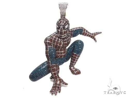 Spiderman Diamond Pendant 42025 Metal