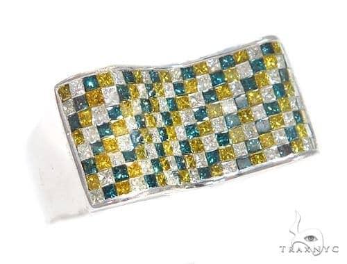 Invisible Colored Diamond Ring 42141 Stone