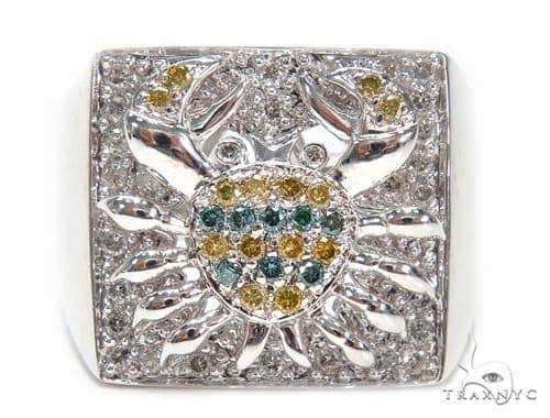 Prong Colored Diamond Ring 42142 Stone