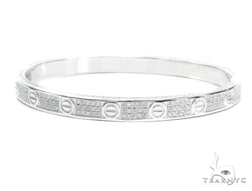 Silver Bangle Bracelet Silver & Stainless Steel