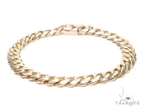 18k Miami Cuban Gold Bracelet 8.25 Inches 9.5mm 72.1 Grams Gold