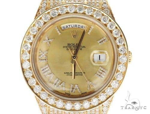 Pave Diamond Rolex Day Date Watch 42350