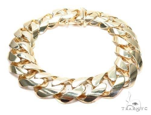 Miami Cuban Gold Bracelet 42384 Gold