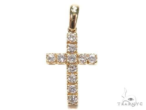 Prong Diamond Cross Crucifix Pendant 42399 Diamond Cross Pendants