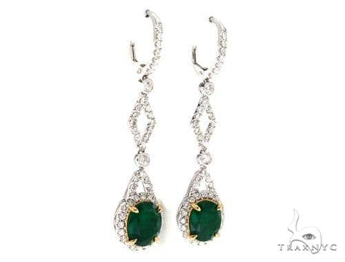 Jasmine Diamond Emerald Earrings 42419 Stone