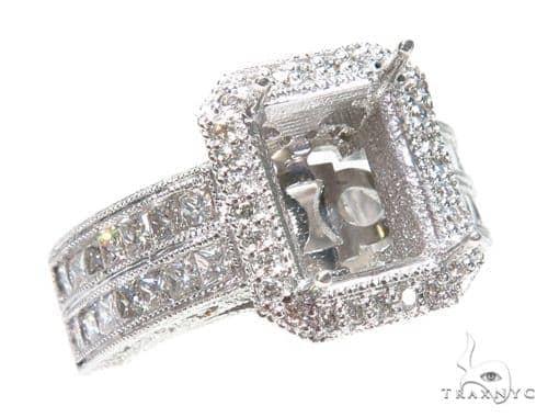 Invisible Diamond Engagement Semi Mount Ring 42448 Engagement