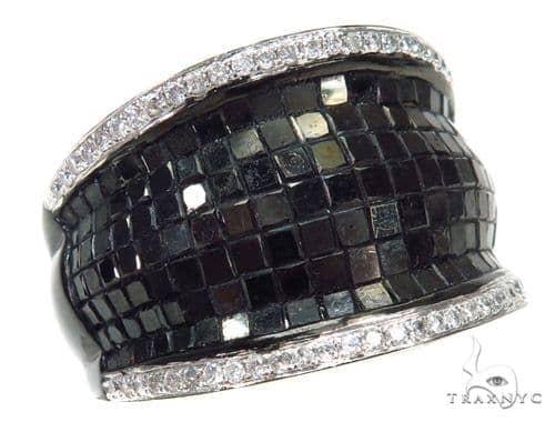 Invisible Black Diamond Ring 42478 Stone