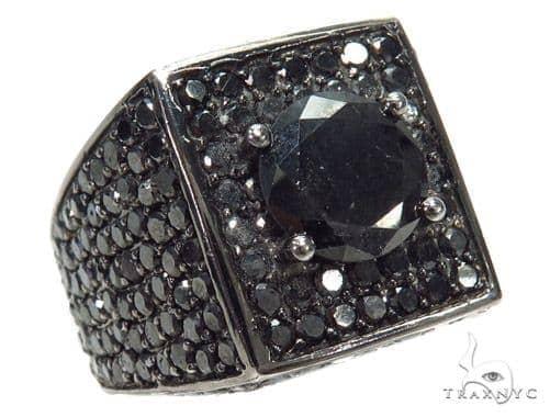 Prong Black Diamond Ring 42479 Stone