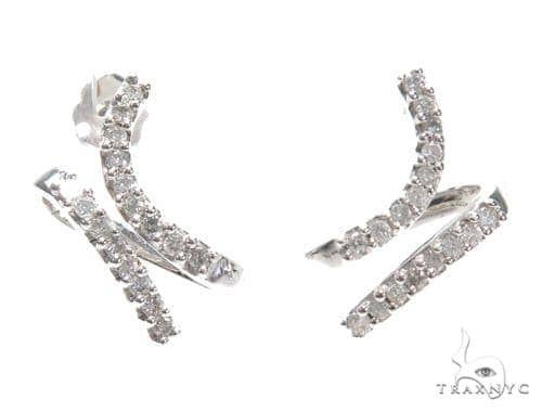 Prong Diamond Earrings 42509 Stone