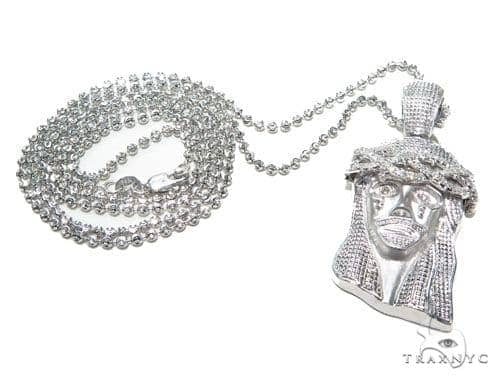 Jesus Piece Moon Cut Chain Set Style