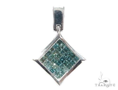 Invisible Blue Diamond Pendant 42617 Stone