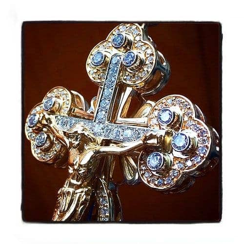 Diamond Christ The Savior Cross Crucifix Diamond