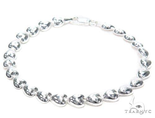 Heart Diamond Bracelet 42671 Silver & Stainless Steel