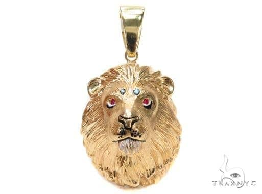 Custom Lion King Pendant with Ruby 42903 Metal