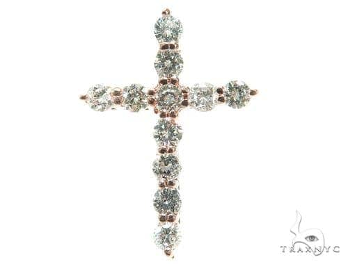 Prong Diamond Cross Crucifix Pendant 42402 Diamond Cross Pendants