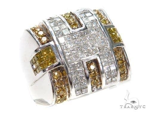 Invisible Colored Diamond Ring 42735 Stone