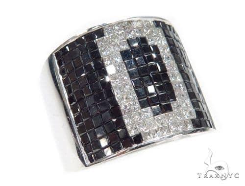 Invisible Black Diamond Ring 42742 Stone